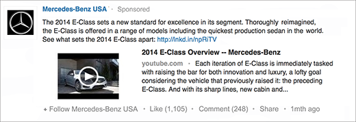 LinkedIn-Sponsored-Updates-Mercedes